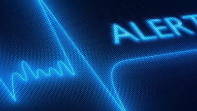 Alert screen on EKG