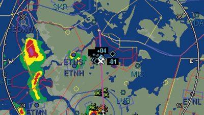 Aircraft radar display