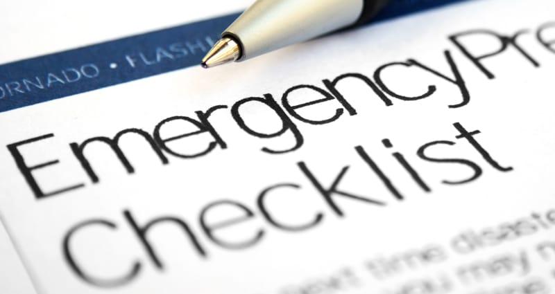 Emergency preflight checklist