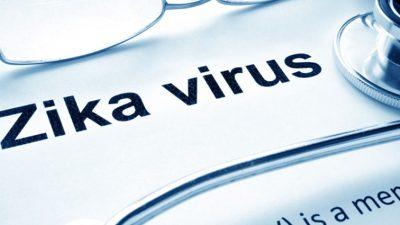 """Zika virus"" printed on paper"
