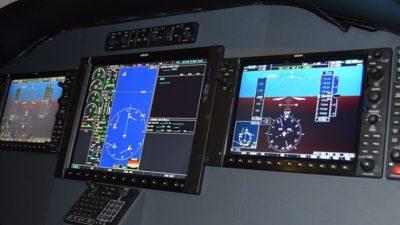 Three aircraft screens