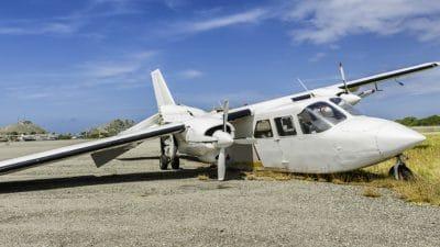airplane crash on runway