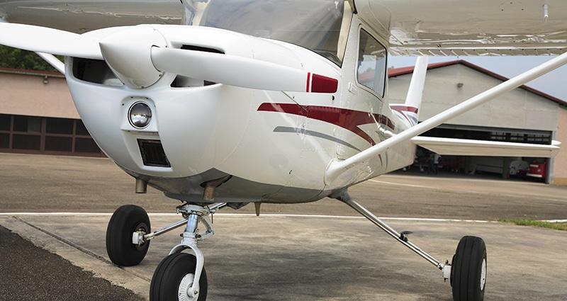 airplane at hangar