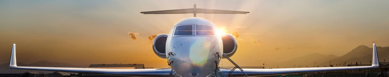 jetplane with sunset