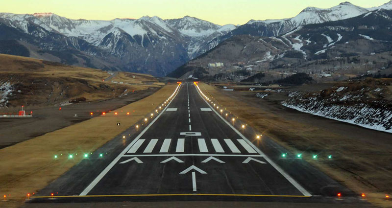 runway in the mountains