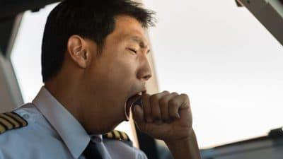 yawning pilot